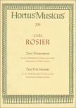 Rosier, Carl - Zwei Triosonaten - 2 Altblockflöten und Bc.