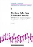 Dalla Casa / Bassano - Divisions on 'Susannne ung jour'  - Sopranblockflöte und Basso continuo