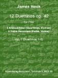 Hook, James - 12 Duettinos op. 42 - Vol. 1 - 2 Altblockflöten