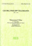 Telemann, Georg Philipp - Triosonate F-dur - Altblockflöte, Diskantgambe und Bc.