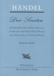Händel, Georg Friedrich - Drei Sonaten - Altblockflöte und Basso continuo