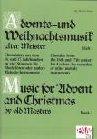 Advents-u. Weihnachtslieder alter Meister 1- Blockflöten Quartett SATB