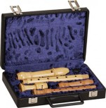 Case For Soprano and Treble Recorder, black