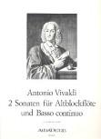 Vivaldi, Antonio - Zwei Sonaten - Altblockflöte und Basso continuo