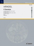 Händel, Georg Friedrich - Vier Sonaten op. 1 - Altblockflöte und Basso continuo