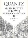 Quantz, Johann Joachim - Sechs Duette -  Heft 2 2 Altblockflöten