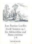 Loeillet de Gant, Jean Baptiste - Zwölf Sonaten op. 1 / 7-9 - Altblockflöte und Basso continuo