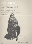 Buterne, Charles - Vier Sonaten op. 2, Band 2 - Altblockflöte und Basso continuo