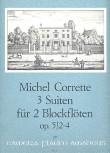 Corrette, Michel - 3 leichte Suiten - Zwei Altblockflöten