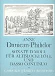 Danican-Philidor, Anne - Sonate d-moll - Altblockflöte und Basso continuo
