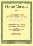 Blockflötenmusik des ital. Barock Sechs Sonaten -  Altblockflöte und Basso continuo