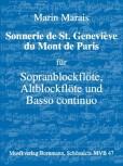 Marais, Marin - Sonnerie de St. Geneviève du Mont de Paris -   Sopranblockflöte, Altblockflöte und Bc.