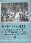 Loeillet, John - Sechs Sonaten op. 3 Band 2 - Altblockflöte und Basso continuo