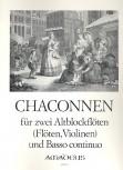 Chaconnen - 2 Altblockflöten und Bc.