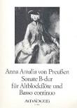 Preußen, Anna Amalia von - Sonate B-dur - Altblockflöte und Basso continuo