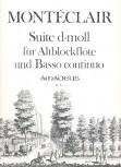 Montéclair, Michel Pignolet de - Suite d-moll - Altblockflöte und Basso continuo