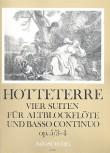 Hotteterre, Jaques - Vier Suiten op. 5  Band 2 - Altblockflöte und Basso continuo