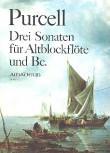 Purcell, Daniel - Drei Sonaten - Altblockflöte und Basso continuo