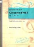Vivaldi, Antonio - Concerto d-moll - 4 Altblockflöten und Bc.