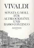 Vivaldi, Antonio - Sonata g-moll - Altblockflöte und Basso continuo