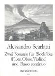 Scarlatti, Allessandro - Zwei Sonaten - Altblockflöte und Basso continuo