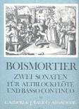 Boismortier, Joseph Bodin de - Zwei Sonaten op. 27 - Altblockflöte und Basso continuo