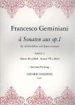 Geminiani, Francesco - Vier Sonaten op.1 Band 1 - Altblockflöte und Basso continuo