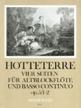 Hotteterre, Jaques - Vier Suiten op. 5 Band 1 - Altblockflöte und Basso continuo