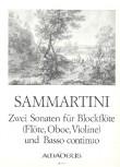 Sammartini, Giuseppe - Zwei Sonaten - Sopranblockflöte und Basso continuo