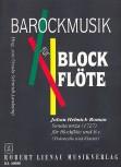 Roman, Johann Helmich - Sonata terza - Altblockflöte und Basso continuo