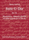 Purcell, Henry - Suite G-dur - SATB