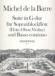 Barre, Michel de la - Suite G-dur - Sopranblockflöte und Basso continuo