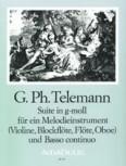 Telemann, Georg Philipp - Suite g-moll - Sopranblockflöte und Basso continuo