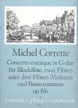 Corrette, Michel - Concerto comique G-dur  Altblockflöte, 2 Querflöten und Bc.