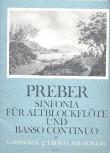 Preber, Giacomo - Sinfonia C-dur - Altblockflöte und Basso continuo