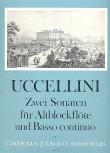 Uccellini, Marco - Zwei Sonaten - Altblockflöte und Basso continuo