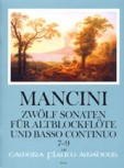 Mancini, Francesco - Zwölf Sonaten Band 3 - Altblockflöte und Basso continuo