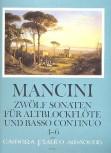 Mancini, Francesco - Zwölf Sonaten Band 2 - Altblockflöte und Basso continuo