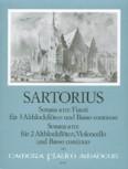 Sartorius, Daniel - Sonata a tre Fiauti - 3 Altblockflöten und Bc.