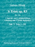 Hook, James - 6 Trios op. 83 -  Band 1  SAA