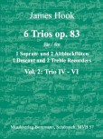 Hook, James - 6 Trios op. 83 -  Band 2 SAA
