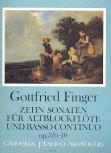 Finger, Gottfried - Zehn Sonaten  op. 3 / 6-10 - Altblockflöte und Basso continuo