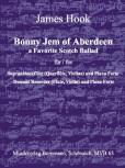 Hook, James - Bonny Jem of Aberdeen - Sopranblockflöte und Klavier