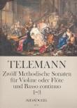 Telemann, Georg Philipp - 12 methodische Sonaten, Band 1 - Sopranblockflöte und Basso continuo