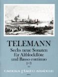 Telemann, Georg Philipp - Sechs neue Sonaten  Heft 1 - Altblockflöte und Basso continuo