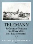 Telemann, Georg Philipp - Sechs neue Sonaten  Heft 2 - Altblockflöte und Basso continuo
