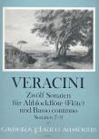 Veracini, Francesco - Zwölf Sonaten Band 3 - Altblockflöte und Basso continuo