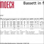 Bassblockflöte  Moeck 8520 Consort, Ahorn gebeizt