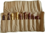 Roll Bag With Nine Slots, brown, linen