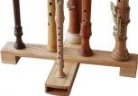 Flötenständer aus geölter Eiche <br><br><br><b>NEU !</b>